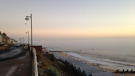 Heavy patches of fog temporarily obscured the view of Southwold last week (Picture: Simon Turner)