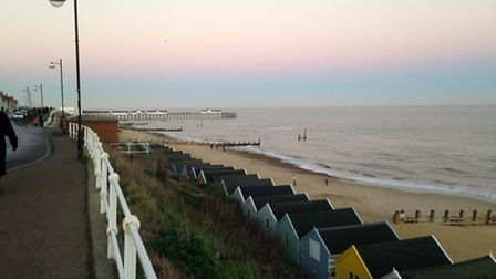 Without the fog, the pier was clearly visible (Picture: Simon Turner)