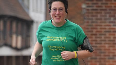 Sophie Leney using the One You NHS Couch to 5K app to get back into running. Picture: DENISE BRADLEY