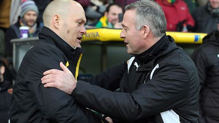 Norwich manager Alex Neil and Wolves' counterpart Paul Lambert met for the first time at Carrow Road