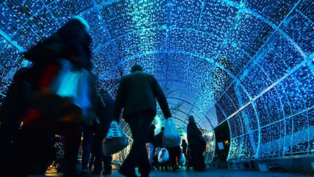 Tunnel of Light on Hayhill, Norwich.Picture: ANTONY KELLY