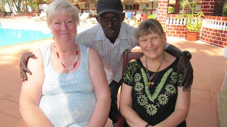 Janet Clark, left, and Jane Moore in The Gambia.