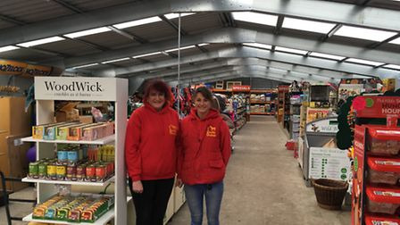 Scratby Garden Centre six months on from fire. Owner Sarah Lawson with her daughter Charlotte