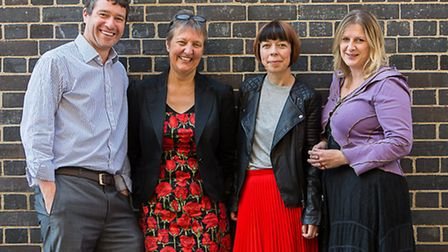 Bamboo Mental Health founder Tom Oxley, left, with consultants, from left, Anne Francis, Debbi Chris