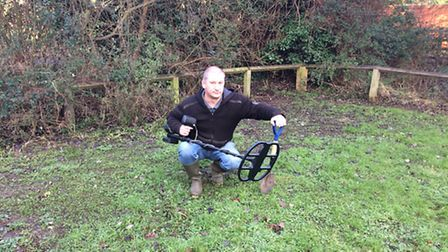 Andy Nock discovered Bronze Age items in a field in Diss. Picture: Rebecca Murphy