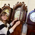 Durrants Auction Rooms are set to auction off five uinique longcase clocks.Bev Baker from Durrants