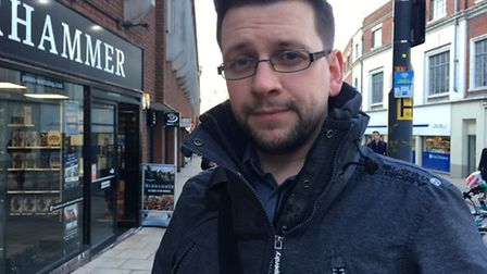 Adam Williams, 31, from Queen's Hills in Costessey, who works in IT for Aviva. Picture: SOPHIE WYLLI