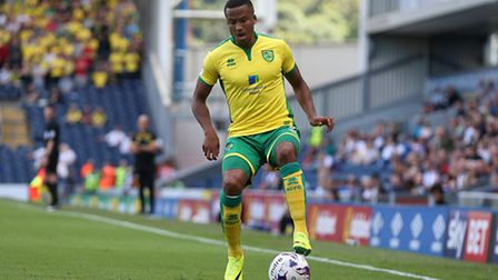 Martin Olsson of Norwich during the Sky Bet Championship match at Ewood Park, Blackburn Picture by P