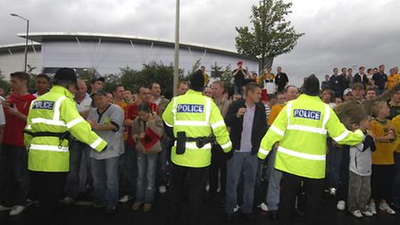 Pictures of 'Worthy out' protests outside Carrow Road after Norwich City lost 4-1 at home to Burnle