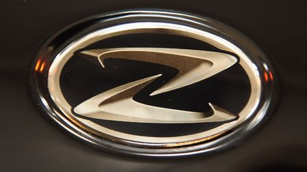 Zenos Cars logo on the car made at the factory in Wymondham. Picture: DENISE BRADLEY