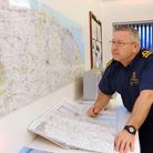 HM Coastguard sector manager Tony Garbutt at Coastguard sector office, Bacton. Picture: DENISE BRAD