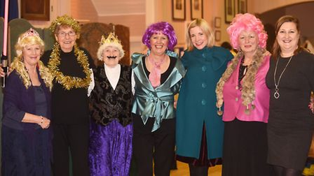 Guest speaker Lucy Worsley pictured with some of the members after the WI meeting at West Newton Vil