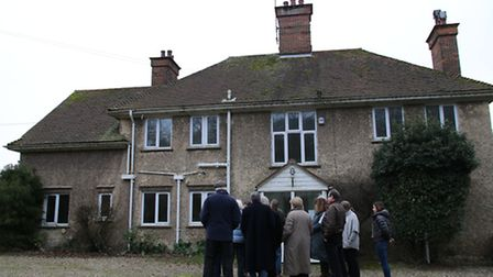 Councillors pictured outside the former rectory during a site visit. They have now voted in favour o