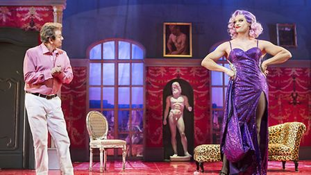 Adrian Zmed as George and West End star John Partridge as dazzling drag artiste Albin. Picture: Pame
