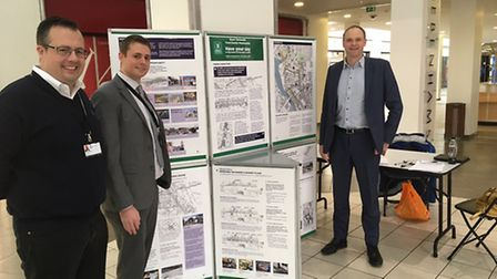 Cllr James Bensly and strategic planners Nick Fountain and David Glason help gather the public's vie