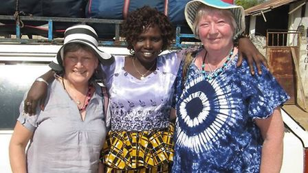 Janet Clark and Jane Moore in The Gambia on a previous trip