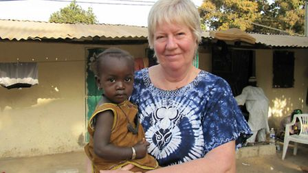 Janet Clark, has raised thousands of pounds for people in Gambia. Pictured: Janet Clark, of Mattisha
