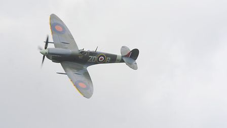 The Spitfire was a crowd-pleaser at the Old Buckenham Airshow in 2016. Photo : Steve Adams