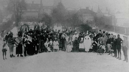Diss Mere skating party, January 1891. Photo supplied