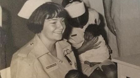 Judy Bloomfield, pictured, as a young nurse. Picture: JUDY BLOOMFIELD
