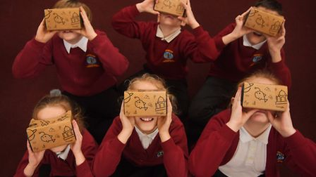 Google expeditions day at Gaywood Community Primary School. Picture: Ian Burt