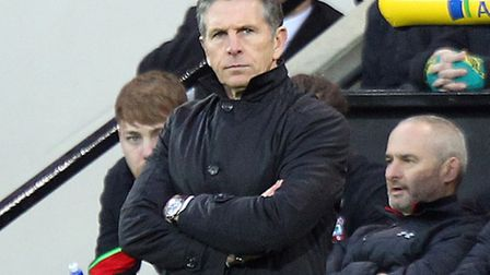 Southampton manager Claude Puel during the third round of the FA Cup at Carrow Road, Norwich . Pictu