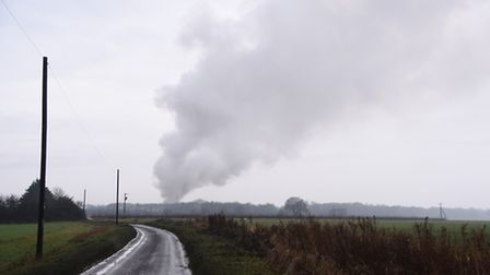 A fire started earlier today at the Glazewing waste centre at West Dereham. Picture: Ian Burt