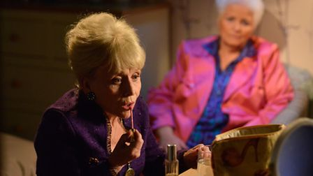EastEnders' Peggy Mitchell and Pat Evans (Picture: BBC - Photographer: Kieron McCarron)