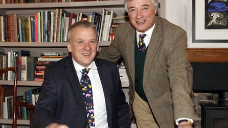 Jon Duffy (left) has been appointed group chief executive officer for Anglia Farmers. He is pictured
