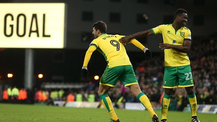 Nelson Oliveira was the first Norwich City player to score a hat-trick at Carrow Road since Gary Hoo