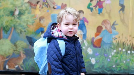 Photo of Prince George taken by his mother, the Duchess of Cambridge, of his first day at the Westa
