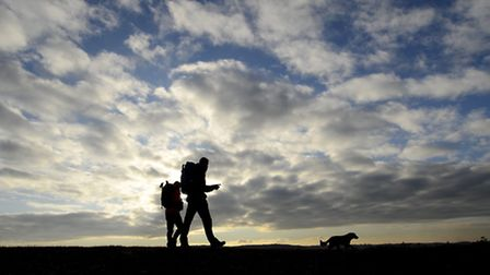 Getting out and about to explore the Norfolk and Suffolk coast paths. Picture: Mark Bullimore.