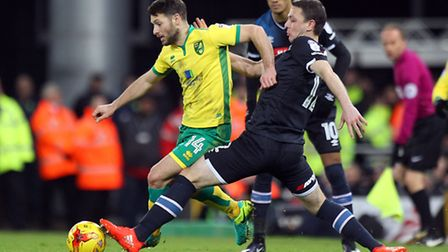 Wes Hoolahan was back in the side against Derby County. Picture by Paul Chesterton/Focus Images Ltd