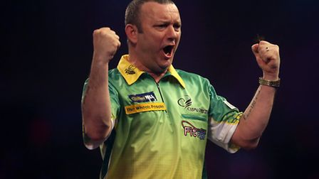 Will Norwich's Darren Webster be celebrating after he plays World Championship title favourite Micha