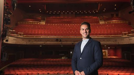 Stephen Crocker, the new chief executive of Norwich Theatre Royal, in the venue.