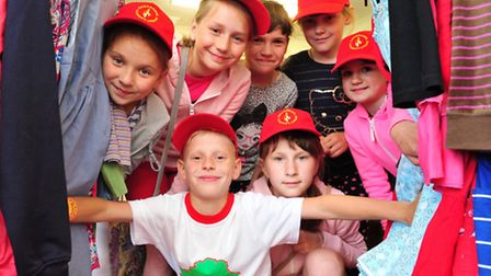 Youngsters during their visit last year with the Chet and Waveney Link of the Chernobyl Childrens L
