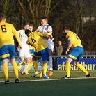 Jake Reed was on target for Lowestoft at AFC Sudbury. Picture: SHIRLEY D WHITLOW
