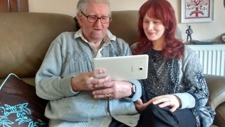 Ian, with his digital inclusion volunteer Jo. Picture: Voluntary Norfolk