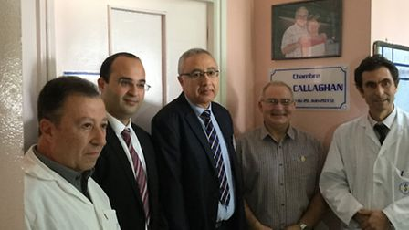 From left: The head of the orrthopaedic department,Tunisia's assistant health minister Aymen Souissi