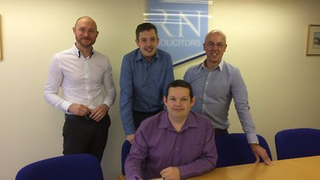 The management team at Broadland Radiators who have completed a management buyout. Pictured from lef