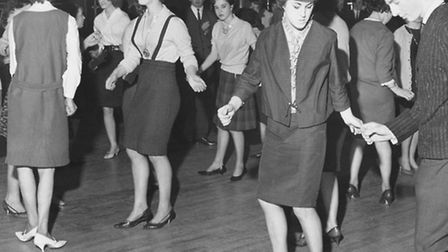 """The """"Teen Beat Night"""" at the Samson and Hercules, Norwich. The dances that evening included the Limb"""