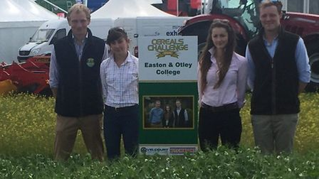 The Easton and Otley College team who came second in the 2016 Cereals Challenge. Pictured: Oscar Smi
