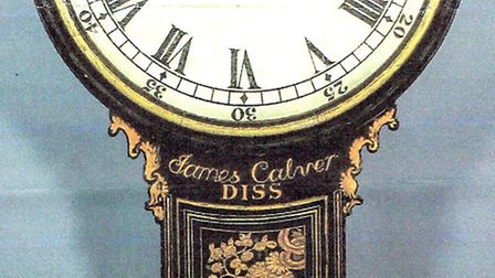 The James Calver clock that was acutionedPicture courtesy of Canterbury Auction Galleries