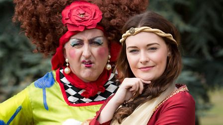 Eamonn Fleming and Helen Slade preparing for some panto fun in Beauty and the Beast at the Theatre R