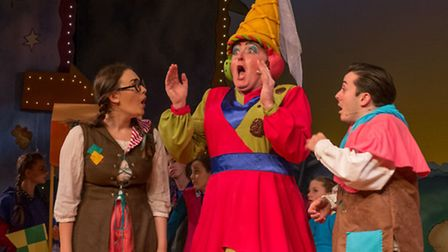 Eamonn Fleming as Molly Muffintop in Bury Theatre Royal's Beauty and the Beast. Picture: Bill Jackso