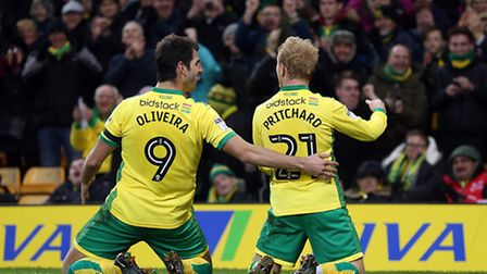 Alex Pritchard and Nelson Oliveira both sparkled in Norwich City's recent 5-0 Championship win over