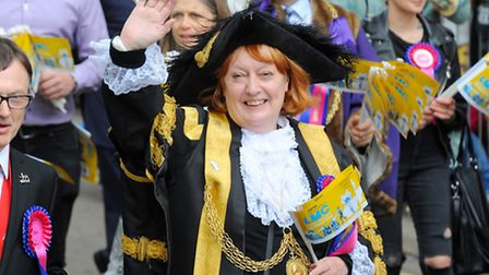 Councillor Marion Maxwell taking part in last year's Lord Mayor's Procession. Photo : Steve Adams
