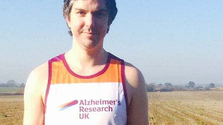James Wells from Thetford is running the London Marathon in aid of Alzheimer's Research UK. Via Jame