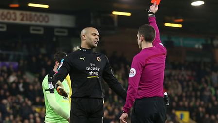 Wolves have appealed Carl Ikeme's red card at Norwich City. Picture by Paul Chesterton/Focus Image