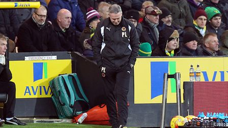 Wolves' manager Paul Lambert suffered a losing return to Carrow Road. Picture by Paul Chesterton/Foc